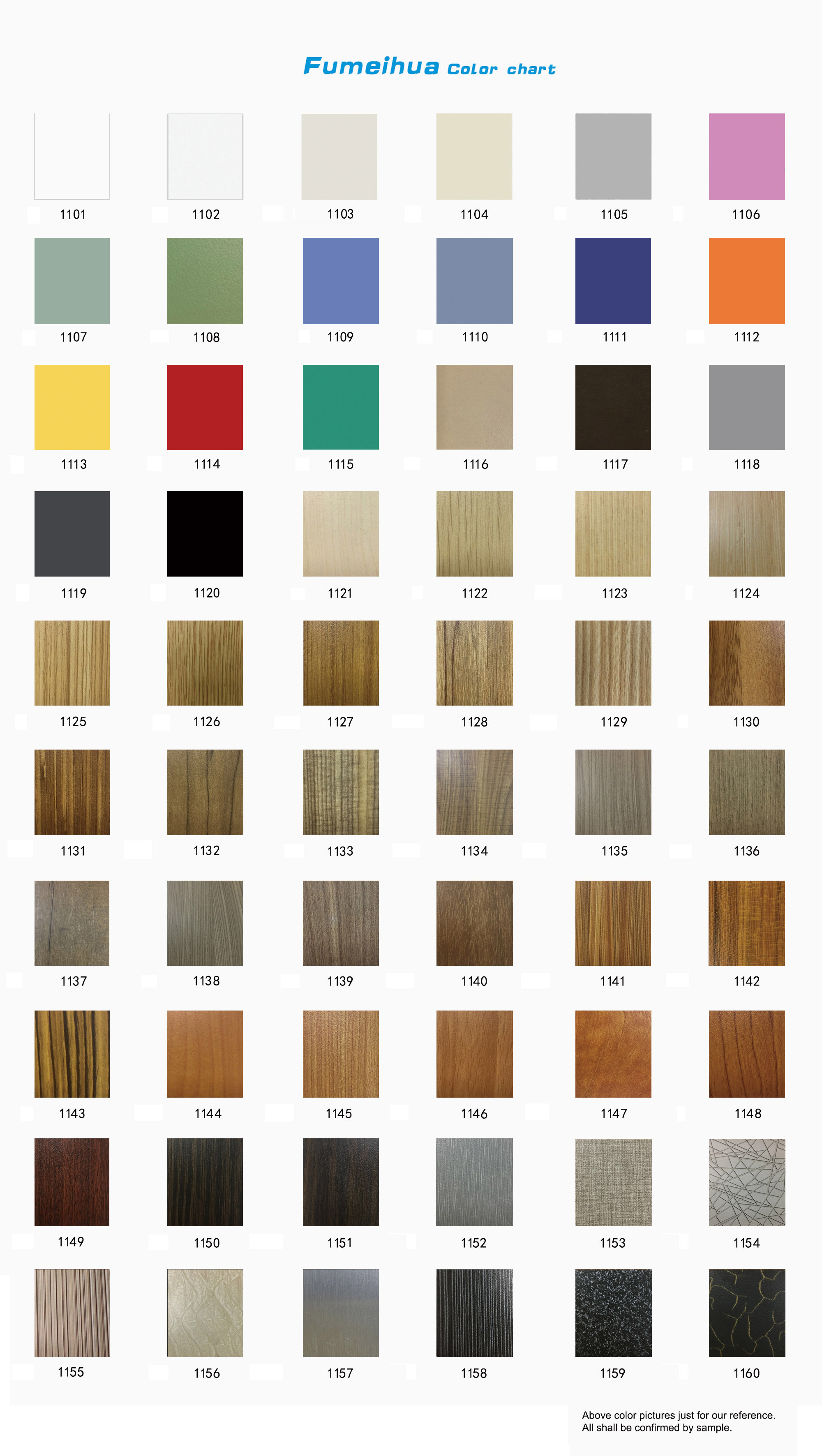 CDF Color Chart